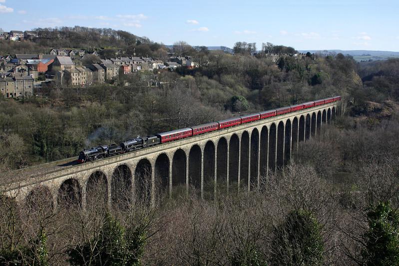 76079 & 45407 on Lockwood Viaduct