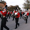 Members of the Effingham High School Marching Hearts played through downtown at the Homecoming Parade Wednesday evening.