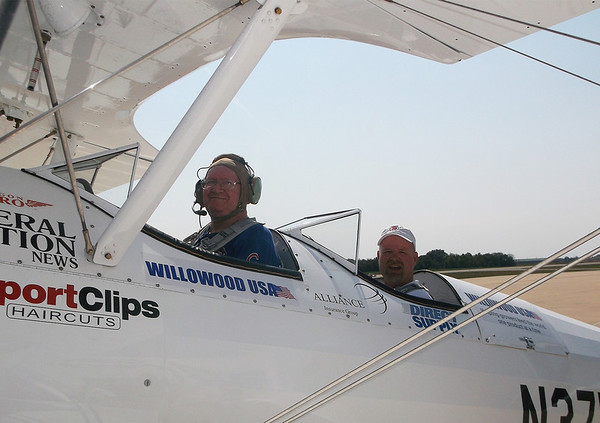 Area veteran Ron Israel prepares to take off from the Effingham County Memorial Airport.