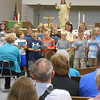 Third-graders at Altamont Lutheran Interparish School recite a poem for grandparents at Grandparents Day at Immanuel Lutheran Church. Hundreds of family members of students from kindergarten to eighth grade filled the chapel to hear songs and poems recited by students.