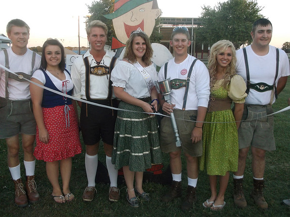 2012 Schutzenfest Queen Morgan Wendling got this year's Schutzenfest underway with King Mitch Wolff this past weekend. Members of the court for this year's event are Logan Hill, Angie Caraway, Tanner Conner, Micah Bell and Ethan Fitzwilliam.