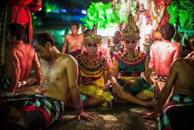 Time to rest. Kecak Dance, Bali