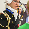 Jacob Blanchette shares some history about George Washington during St. Anthony Grade School wax museum Thursday.