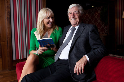 Talk Show Hosts Miriam O'Callaghan and Sir Michael Parkinson in the Maritime Hotel, Bantry for the 14th West Cork Literary Festival.
