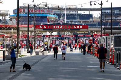People attend Washington Nationals Opening Day