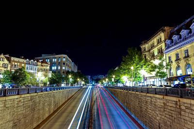 Night traffic in Washington, D.C.