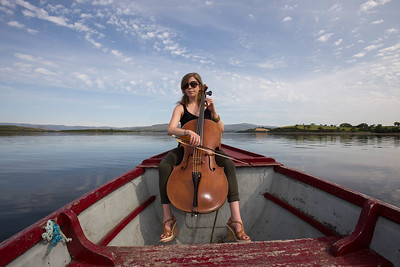 Cellist Norah O'Leary from Ensemble Dagda at the launch of the West Cork Chamber Music Festival in Bantry, Co Cork. Picture Darragh Kane