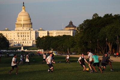 People gather on the National Mall as COVID-19 restrictions eased in D.C.