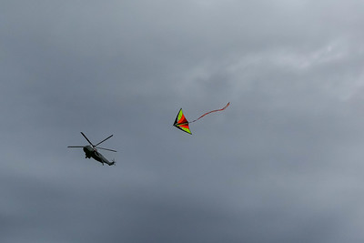 Marine One and kite on National Mall