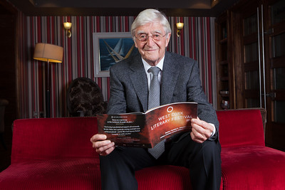 Sir Michael Parkinson in the Maritime Hotel, Bantry for the 14th West Cork Literary Festival. Pic Darragh Kane