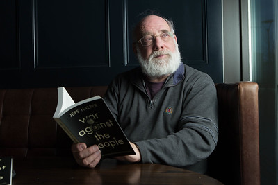 Professor Jeff Halper, Director of the Israeli Committee Against House Demolitions (ICAHD) and author of War Against The People in Cork City before speaking in the Clarion Hotel about the Israel-Palestine war. PIC DARRAGH KANE