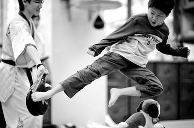 Jump side kick?