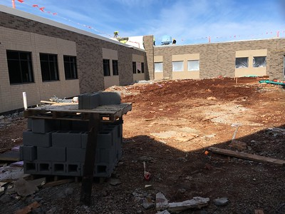 The interior courtyard will feature a small concrete stage