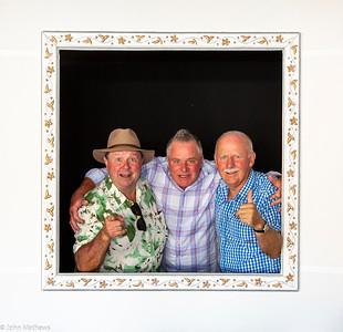 Image of Mark Judge, Mark Brandwood and John Mathews taken at the wedding of Sam Judge and Brad Carter on 26 February 2021 held at Marlborough Vintners Hotel, Blenheim, New Zealand.   copyright John Mathews 2021.       www.megasportmedia.co.nz
