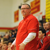 Bishop McCort caoch Jerry Murphy watches his team pull ahead of United during a PIAA District 6, Class AA playoff game in Johnstown, PA., Thursday, Feb.22, 2018.