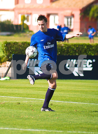 John Terry with Chelsea Football Club training at La Manga Club, 26th February 2004
