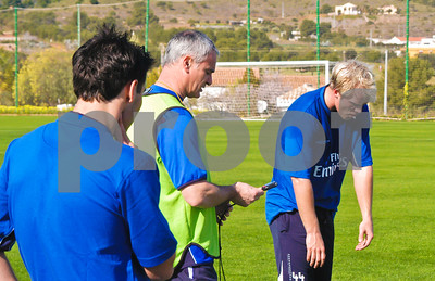 Eider Gudjohnson with Chelsea Football Club training at La Manga Club, 26th February 2004