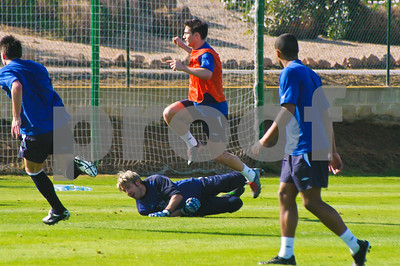Frank Lampard with Chelsea Football Club training at La Manga Club, 26th February 2004