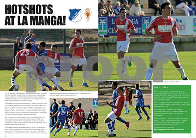 Football team visitors to La Manga Club feature, La Manga Illustrated 2011