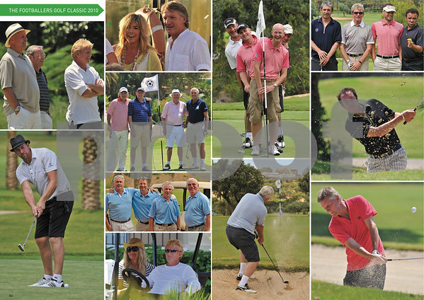 Footballer's Golf Classic Feature, Pages 84 & 85