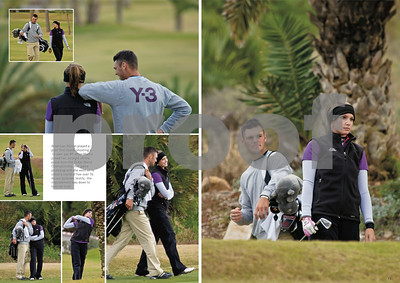 Martin Kaymer and Allison Micheletti on La Manga Club's North Course, February 2011