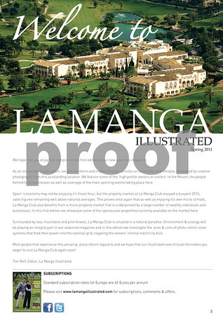 La Manga Illustrated Welcome Page