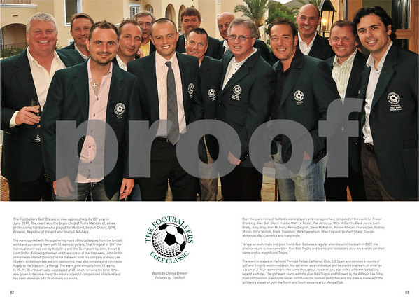 Footballers Golf Classic Article, Pages 82 & 83