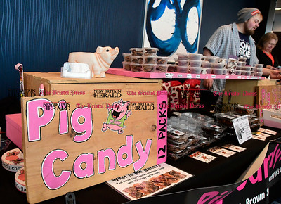2/11/2017 Mike Orazzi | Staff Bacon turned into candy during The 5th Annual The Bristol Chocolate Expo & Craft Show held at the Doubletree Hilton in Bristol Saturday.