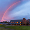 I turned around after taking that last photo and saw this rainbow over the clubhouse.