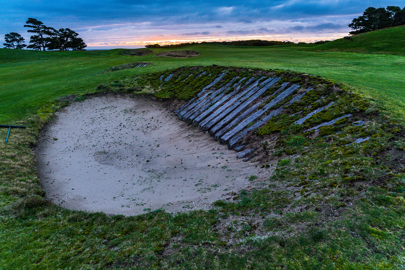 Nasty bunker...(I didn't see the deer on the hillside behind till minutes later).