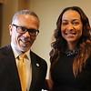 In the Green Room --President Dr. David Carlisle and Keynote Speaker Valeisha Butterfield Jones.