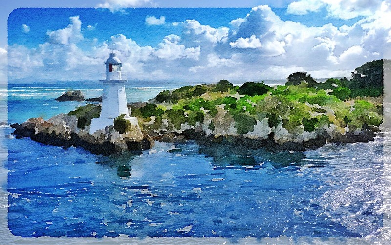 Lighthouse Watercolour Photo 1 - Frank.