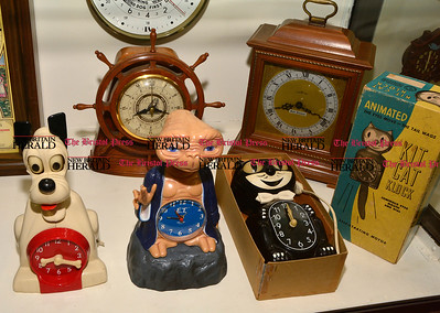 2/3/2017 Mike Orazzi | Staff Novelty clocks at American Clock & Watch Museum on Friday.