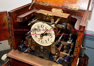 2/3/2017 Mike Orazzi | Staff A time punch clock on Friday. at American Clock & Watch Museum on Friday.