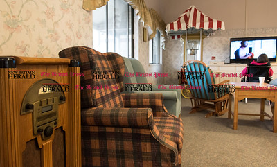 020617  Wesley Bunnell | Staff  A jukebox and popcorn machine in a common room area inside of the Autumn Lake Healthcare facility at New Britain.