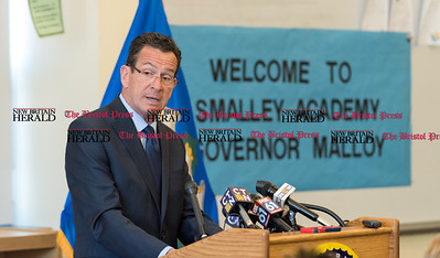 020617  Wesley Bunnell | Staff  Governor Dannel P. Malloy held a news conference at Smalley Academy in New Britain on Monday afternoon to discuss his upcoming budget proposal.