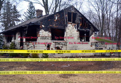 2/7/2017 Mike Orazzi | Staff A Southington home 321 Berlin Street that was destroyed by fire early Tuesday morning.