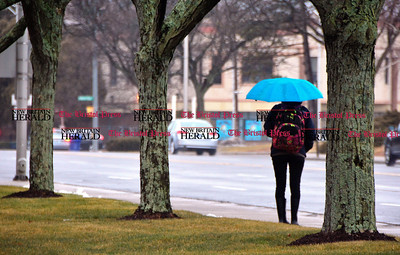 2/7/2017 Mike Orazzi | Staff A rainy February day in Bristol along Riverside Avenue Tuesday.