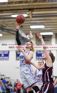 021317  Wesley Bunnell | Staff  Bristol Eastern girls basketball vs Bristol Central on Feb. 13 at Bristol Eastern High School. Diana Wnuk (14) with a lay up.