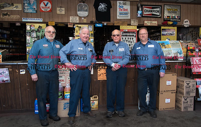 022317  Wesley Bunnell | Staff  Standing at the front counter at Dalena Auto Parts are Peter L. Dalena, Dan J. Dalena, Peter D. Dalena and Dan Dalena.