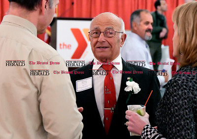 2/1/2017 Mike Orazzi | Staff YMCA Person of the Year Benny Cammuso during the Southington-Cheshire Community YMCA's 88th Annual Meeting held at the Aqua Turf Club Wednesday evening.