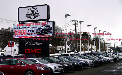 2/15/2017 Mike Orazzi | Staff The President's Day Sale at Stephen AutoMall Centre on Route 6 in Bristol.
