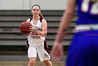 2/15/2017 Mike Orazzi | Staff Bristol Central's Meghan Hamel (15) during Wednesday night's basketball game with Plainville.