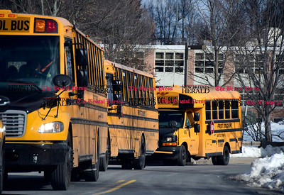 2/16/2017 Mike Orazzi | Staff Buses lined up at Bristol Eastern High School.