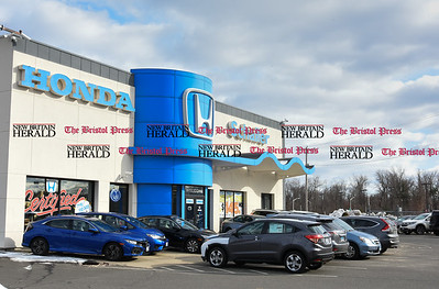 021617  Wesley Bunnell | Staff  Area auto dealerships are preparing for the upcoming President's Day Sales including Schaller Honda in New Britain.