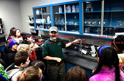 2/16/2017 Mike Orazzi | Staff Craig O'Neil explains how the Bristol Water Treatment Plant works to students from the Chippens Hill Middle School during a tour Thursday morning.
