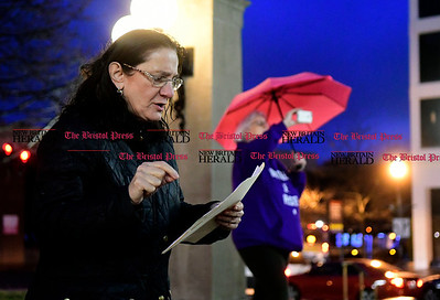 2/25/2017 Mike Orazzi   Staff Dr. Victoria A. Cassano during a candle light vigil and rally for the Affordable Care Act (ACA) and or Obamacare, in New Britain's Central Park Saturday evening.