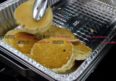 2/25/2017 Mike Orazzi   Staff Pancakes during the 7th Annual Maple Sugaring and Pancake Breakfast Fundraiser at Indian Rock Nature Preserve in Bristol Saturday morning.