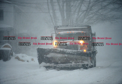 2/9/2017 Mike Orazzi | Staff A Plymouth snow plow on Route 6 in Terryville Thursday morning.