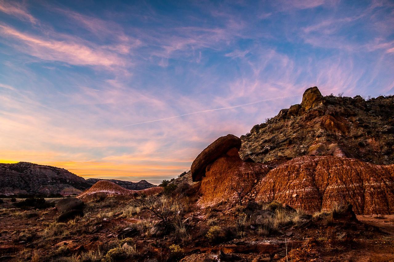 Sunset Along Kiowa Trail